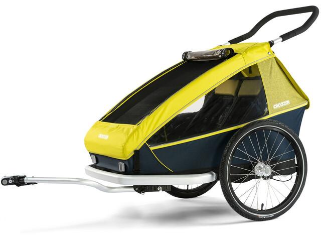 Croozer Kid For 2 Cykelanhænger gul/sort (2019) | bike_trailers_component